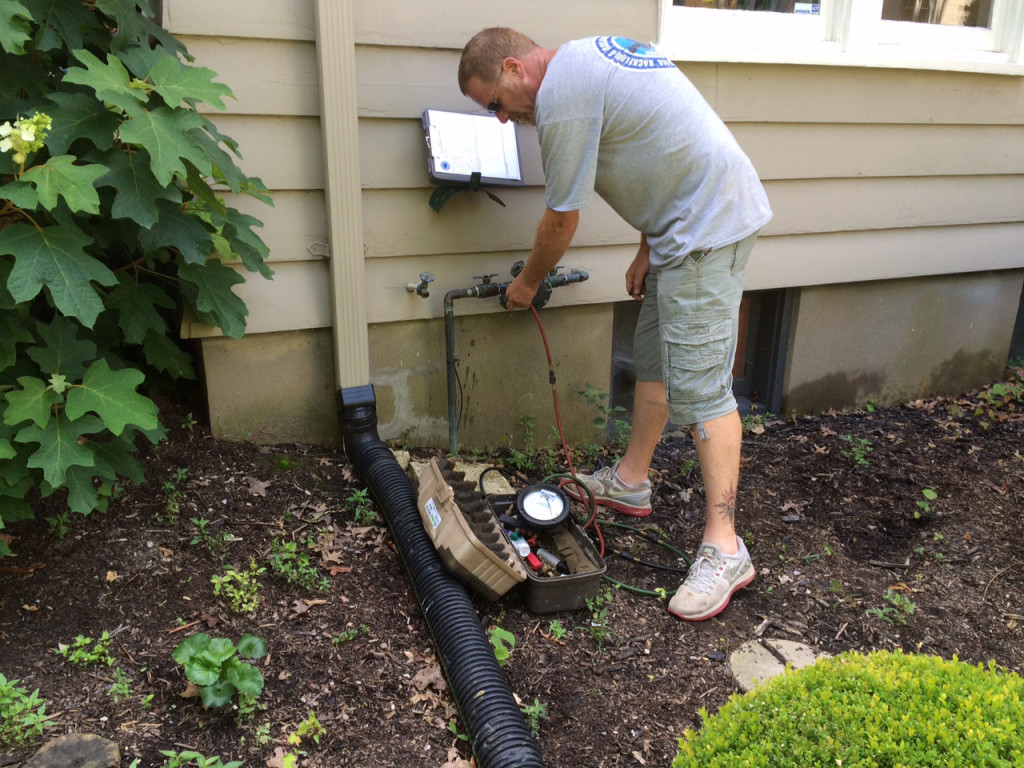irrigation inspection - backflow test