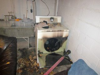 cloths dryer fire