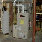 a typical newer furnace installation